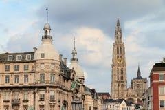 Antwerp stadsdomkyrka Arkivbilder