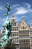 Antwerp statue Royalty Free Stock Photography