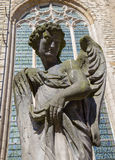 Antwerp - Stone statue of angel as part of calvary beside of St. Pauls church (Paulskerk) Royalty Free Stock Photography