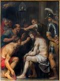 Antwerp - The Torture of Jesus paint by  baroque master Antoon de Bruyn in St. Pauls church (Paulskerk) Royalty Free Stock Photo