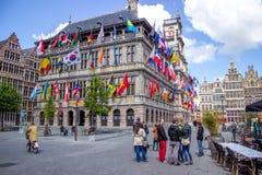 Antwerp townhall Stock Photos