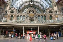 Antwerp trainstation arkivfoto
