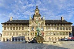 Antwerp urząd miasta Obrazy Royalty Free