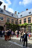 Antwerpen, België - Mei 10, 2015: Toeristenbezoek Rubenshuis (Rubens House) in Antwerpen Royalty-vrije Stock Fotografie