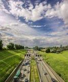 Antwerpen Belgien 04 august 2016 Huvudväg in arkivfoton