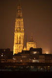 Antwerpen bis zum Night Stockfotografie