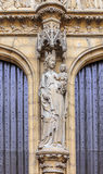 Antwerpen Cathedral Main Entrance Doors Stock Photo