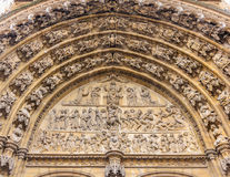 Antwerpen Cathedral Main Entrance Doors Royalty Free Stock Photo