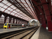 Antwerpen Centraal Train Station Stock Photo