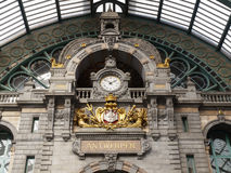 Antwerp Centraal Train Station Royalty Free Stock Photo