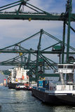 Antwerpen-Dock stockfotos