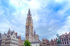 Antwerpen-Hauptplatz in Flandern, Belgien Stockbild