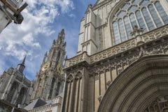 Antwerpen. Historical centre of antwerpen, belgium 2017 Stock Photography