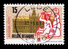 Antwerpen kulturalny kapitał Europa - urząd miasta, seria, około 1 ilustracja wektor
