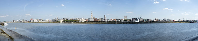 Antwerpen panoramic view Royalty Free Stock Photos
