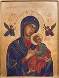 Antwerpen - Pictogram van Madonna binnen in de kerk van Heilige Willibrordus Stock Fotografie