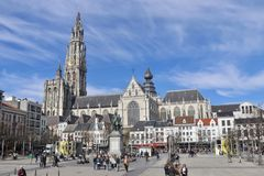 Antwerpen-Stadtzentrum Lizenzfreies Stockfoto