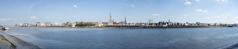 Antwerpenpanorama Royalty-vrije Stock Foto's