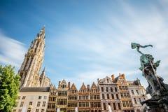Antwerpenstad in België stock afbeelding
