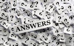 Antwoorden op vraag Royalty-vrije Stock Foto
