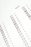 Antwort für Prüfung lizenzfreie stockfotografie