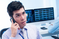 Antworten auf Kunden Lizenzfreies Stockfoto
