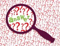 Antworten Sie gefunden Stockbild