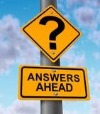 Antworten voran Stockbilder