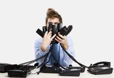 Antwortende Anrufe Stockfotografie