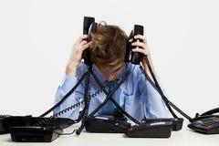 Antwortende Anrufe Stockfoto