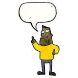 antwortende Frage des Karikaturmannes Lizenzfreie Stockbilder