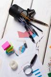 anty biuro inny nożyc ostrzarki zszywacza materiały zdjęcia stock