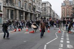 anty cięć London protest zdjęcie royalty free
