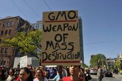 Anty GMO wiec. Obrazy Stock
