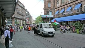 Anty Izrael protest w Strasburg, Francja Obrazy Royalty Free