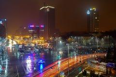 Anty korupcja protest w zwycięstwo kwadracie, Bucharest, Rumunia Obrazy Royalty Free