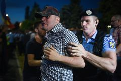 Anty Rumunia ` s wierzchołka sądu protest, Bucharest, Rumunia - 30 Maj 20 obrazy stock