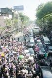 Anty - Tajlandzki rzędu protest  obraz stock
