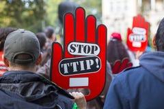 Anty TTIP protest zdjęcia stock