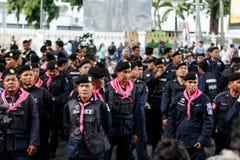Anty wyczynu protest TAJLANDIA 25/5/2014 Obrazy Royalty Free