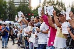 Anty wyczynu protest TAJLANDIA 25/5/2014 Zdjęcie Stock