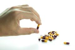 Antybiotyczne kapsuły Zdjęcia Stock