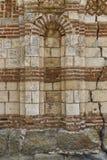 Antyczna ściana kościół w miasteczku Nesebar Bułgaria Obraz Royalty Free