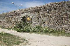 Antyczna ściana w Hiszpańskiej wiosce fotografia royalty free