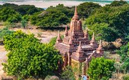 Antyczna świątynia w Bagan, Myanmar Fotografia Stock