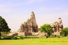 Antyczna świątynia, Zachodnie świątynie w Khajuraho, India Fotografia Royalty Free