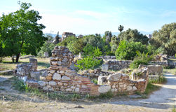 Antyczna agora Ateny Grecja Zdjęcia Stock