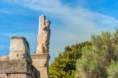 Antyczna Agora, Ateny, Grecja Piękna krajobrazowa fotografia Obrazy Royalty Free