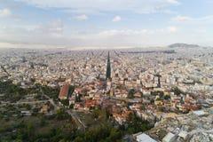 Antyczna agora Ateny i nowożytny miasto Zdjęcie Royalty Free