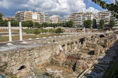 Antyczna agora Saloniki Obrazy Stock